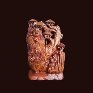 Tượng Di Lặc gỗ sụn Hương đá 56x16x35cm