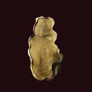 Khay trà gỗ bách xanh Sơn La 77x39x11cm
