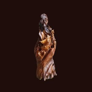 Tượng Đạt Ma gỗ bách xanh 89x30x31cm