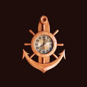 Đồng hồ mỏ neo gỗ thông 55x44x5,5cm