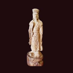 Tượng Khổng Minh gỗ ngọc am Hà Giang 47x16x11cm