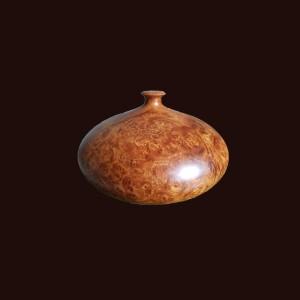 Bình phú quý gỗ nu hương 16x31cm