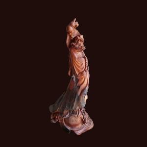 Đạt Ma Sư Tổ gỗ hương đá Gia Lai 89x36x37cm