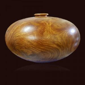Bình phú quý gỗ Gõ Đỏ 61x29cm