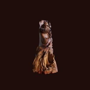 Tượng Đạt Ma gỗ ngọc am 80x35x41cm