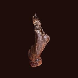 Tượng Đạt Ma gỗ thủy tùng 62x28x16cm
