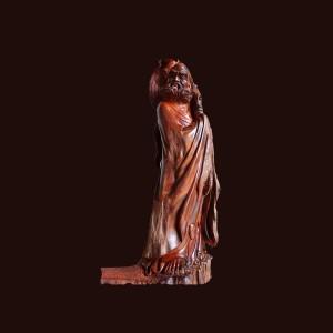 Tượng Đạt Ma gỗ trắc 62x28x16cm