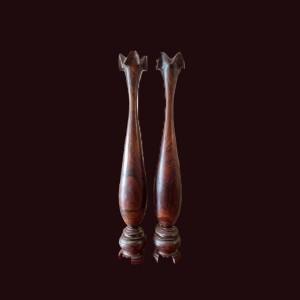 Tỳ bà gỗ chiu liu bông Gia Lai 120x18cm