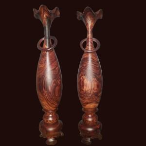 Tỳ bà mini gỗ Trắc lông chuột 29x6cm