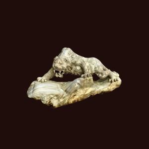 Tượng hổ gỗ nu nghiến 84x45x20cm