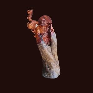 Tượng Đạt Ma gỗ sụn hương 120x61x49cm