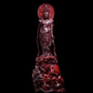 Tượng Đại Thế Chí Bồ Tát Gỗ Tử Đàn Ấn Độ 68x21x18cm