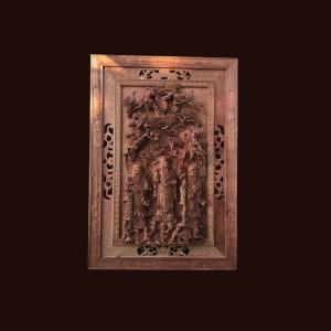Tranh Tam Đa gỗ hương 139x96x10cm
