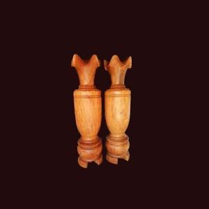 Lộc bình gỗ gụ 167x44cm
