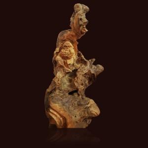 Đạt ma sư tổ gỗ sụn Pơmu 73x22x35cm