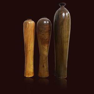 Bộ 3 bình gỗ Thủy Tùng