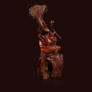 Đạt ma sư tổ gỗ sụn Hương đá 80x20x30cm