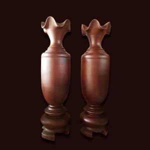 Lộc bình gỗ Lim đá 180x50cm