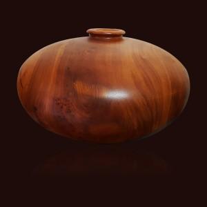 Bình phú quý gỗ Gõ Đỏ 23x46cm