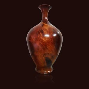 Bình phú quý gỗ Hương 38x18cm