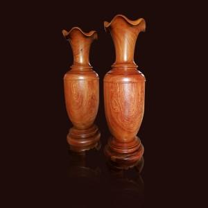 Lộc bình gỗ Hương đá 140x40cm