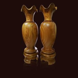 Lộc bình gỗ Xá Xị 110x33cm