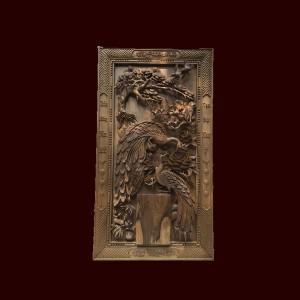 Tranh đốc lịch gỗ bách xanh 90x50x8cm