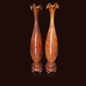 Tỳ bà gỗ Hương đá 70x13cm