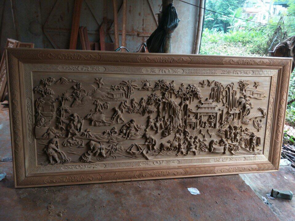 Cách treo tranh gỗ đồng quê hợp phong thủy