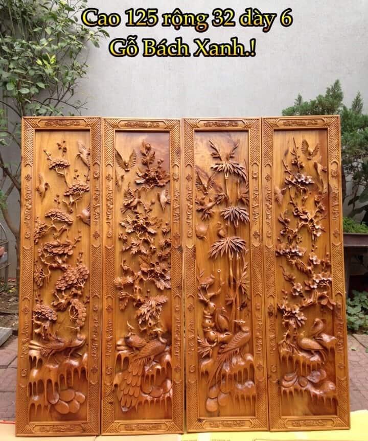 Tranh gỗ tứ quý - Nguồn cảm hứng nghệ thuật vô giá