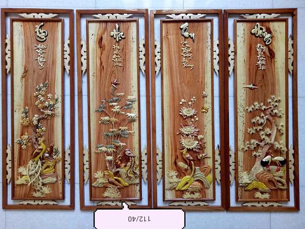 Cách treo tranh gỗ tứ quý rước nhiều tài lộc nhất