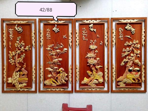 Những tranh gỗ phong thủy nên mua khi về nhà mới