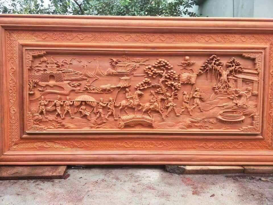 Cách treo tranh gỗ vinh quy bái tổ hợp lý nhất